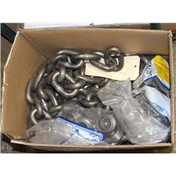 BOX OF 30 GAUGE CHAIN AND FITTINGS