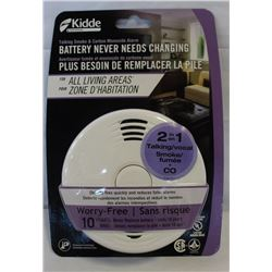 NEW KIDDE TALKING SMOKE AND CARBON MONOXIDE ALARM