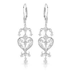 0.92 CTW Diamond Earrings 14K White Gold - REF-82X8R