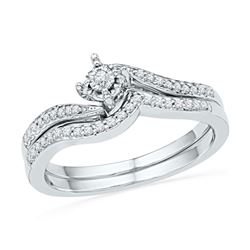0.19 CTW Diamond Bridal Wedding Engagement Ring 10KT White Gold - REF-26F3N