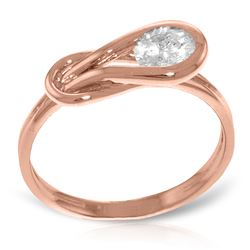 Genuine 0.50 ctw Diamond Anniversary Ring Jewelry 14KT Rose Gold - REF-191H2X