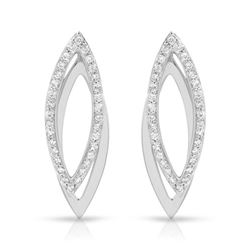 0.67 CTW Diamond Earrings 18K White Gold - REF-70R6K