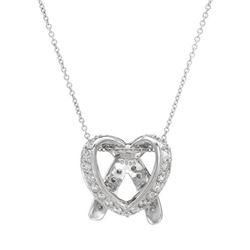 0.89 CTW Diamond Necklace 18K White Gold - REF-105Y7X