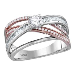 0.75 CTW Diamond Solitaire Bridal Engagement Ring 14KT White Gold - REF-112H5M