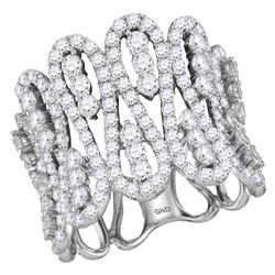 2.5 CTW Diamond Fashion Cocktail Ring 10KT White Gold - REF-179W9K