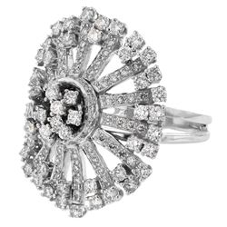 2.56 CTW Diamond Ring 18K White Gold - REF-290X3R