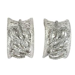 0.76 CTW Diamond Earrings 14K White Gold - REF-98H7M