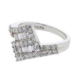 1.02 CTW Diamond Ring 18K White Gold - REF-110W3H