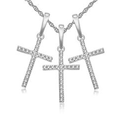 0.03 CTW Diamond Pendant 14K Rose Gold - REF-10X2R