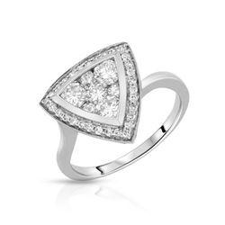 1 CTW Diamond Ring 14K White Gold - REF-104X9R