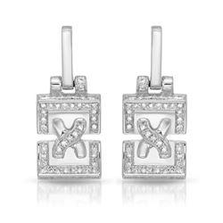 1 CTW Diamond Earrings 14K White Gold - REF-92X2R