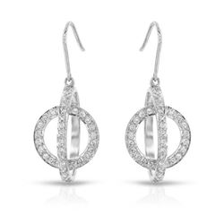 1 CTW Diamond Earrings 14K White Gold - REF-87W4H
