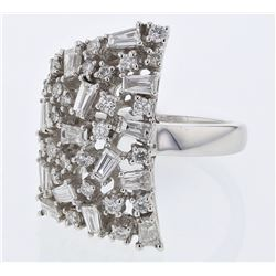 1.43 CTW Diamond & Diamond Ring 18K White Gold - REF-175K5W