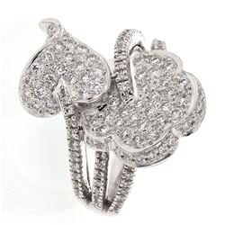 1.06 CTW Diamond Ring 18K White Gold - REF-153M5F