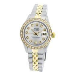 Rolex Pre-owned 26mm Womens Custom Silver Two Tone - REF-530N3H