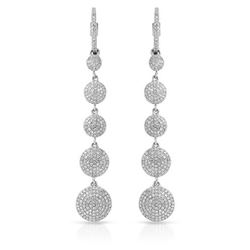 0.79 CTW Diamond Earrings 14K White Gold - REF-57W2H