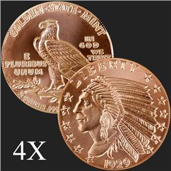 5 oz Incuse Indian .999 Fine Copper Round