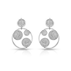 1.09 CTW Diamond Earrings 14K White Gold - REF-69R4K