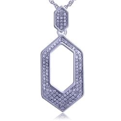 0.17 CTW Diamond Necklace 14K White Gold - REF-23K9W