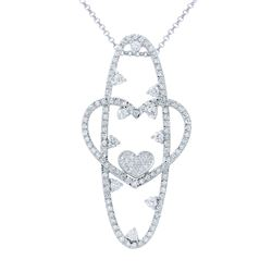 2.28 CTW Diamond Necklace 14K White Gold - REF-158R9K