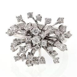 1.11 CTW Diamond Ring 18K White Gold - REF-130Y5X
