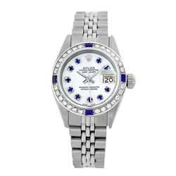Rolex Pre-owned 26mm Womens Custom White MOP Stainless Steel - REF-470Y3W