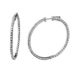 2.71 CTW Diamond Earrings 14K White Gold - REF-192N2Y