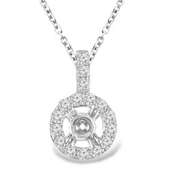0.34 CTW Diamond Pendant 14K Rose Gold - REF-27N2Y