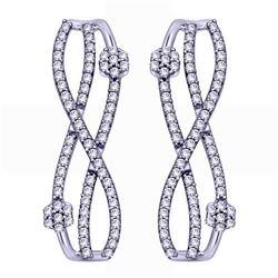 0.19 CTW Diamond Earrings 14K White Gold - REF-22Y9X
