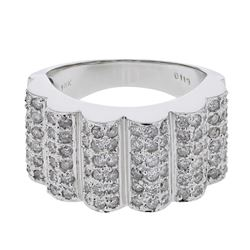1.13 CTW Diamond Ring 18K White Gold - REF-145Y2X