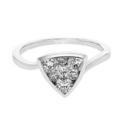 0.75 CTW Diamond Ring 14K White Gold - REF-80F4N