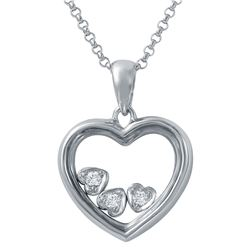 0.06 CTW Diamond Necklace 14K White Gold - REF-32K4W