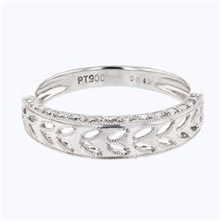 0.42 CTW Diamond Band Ring Platinum - REF-57Y3X