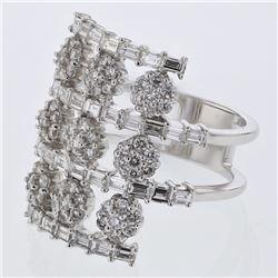 2.09 CTW Diamond Ring 18K White Gold - REF-196W2H