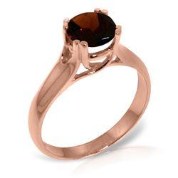 Genuine 1.10 ctw Garnet Ring Jewelry 14KT Rose Gold - REF-63N3R
