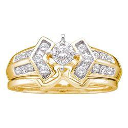 0.25 CTW Diamond Bridal Wedding Engagement Ring 10KT Yellow Gold - REF-41N2F