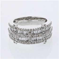 1.6 CTW Diamond Ring 14K White Gold - REF-134N7Y