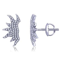 0.17 CTW Diamond Earrings 14K White Gold - REF-15W9H