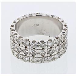 3.52 CTW Diamond Ring 18K White Gold - REF-339F7N