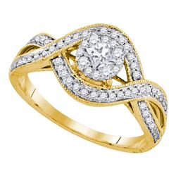 0.50 CTW Princess Diamond Solitaire Bridal Engagement Ring 14KT Yellow Gold - REF-71K9W