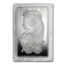 Genuine 10 oz 0.999 Fine Silver Bar - PAMP Suisse Fortuna