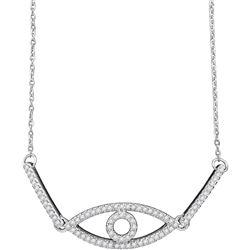 0.20 CTW Diamond Eye Chain Bracelet 10KT White Gold - REF-34F4N