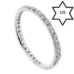 *** NEW*** RING - IMMACULATE ! 1/4 CARAT (38 PCS) DIAMOND IN 10KT SOLID WHITE GOLD ETERNITY SETTING