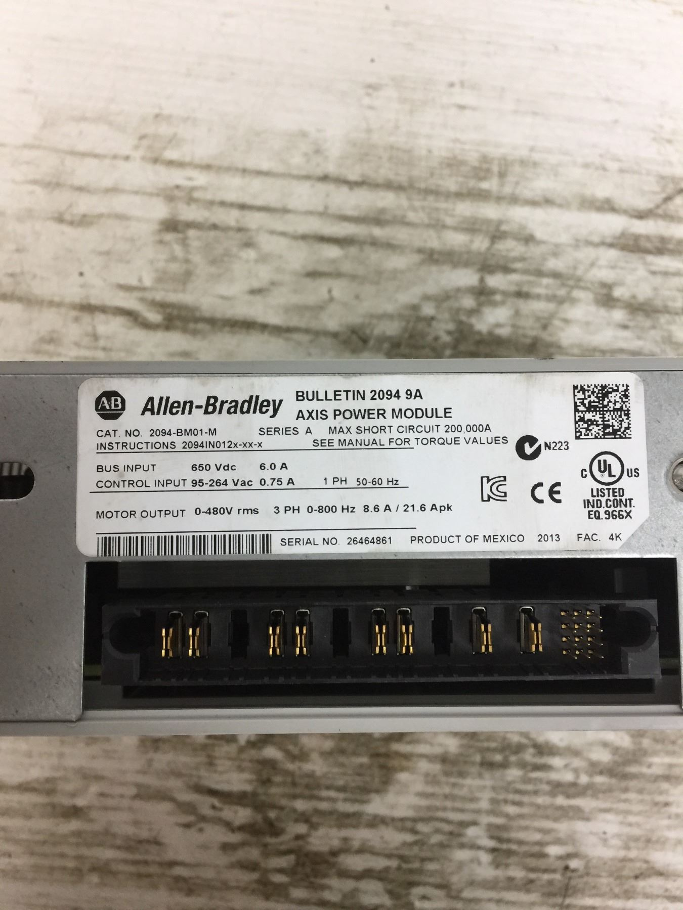 Allen-Bradley 2094-BM01-M Axis Power Module