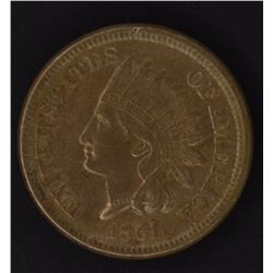 1861 INDIAN CENT, CH BU NICE!