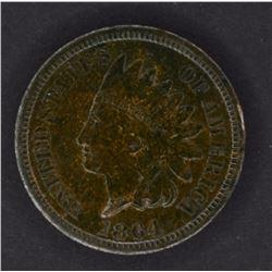 1864 BRONZE INDIAN CENT, CH BU+