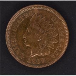1867 INDIAN CENT, CH BU GORGEOUS COLORS