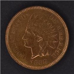 1868 INDIAN CENT, CH BU