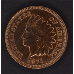 1871 INDIAN CENT, CH BU