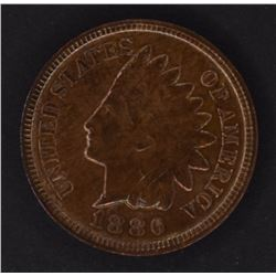 1886 TYPE-2 INDIAN CENT, CH BU